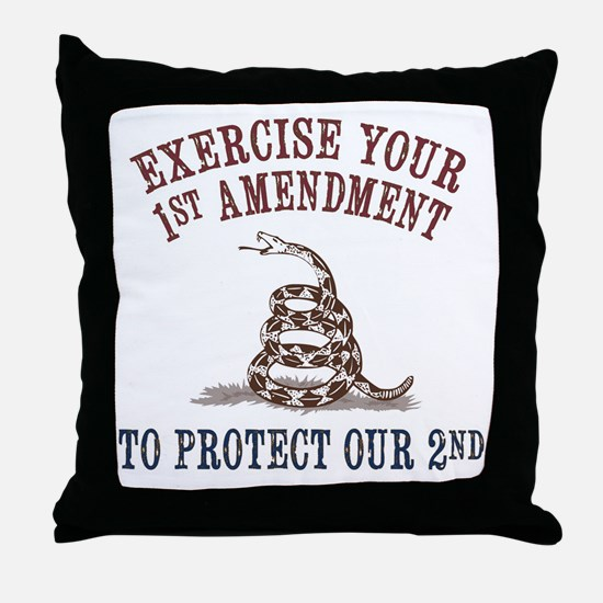Protect Our 2nd Throw Pillow