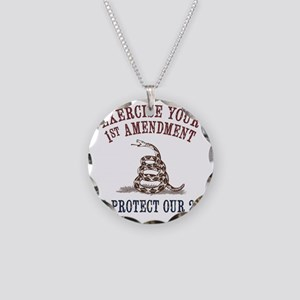 Protect Our 2nd Necklace Circle Charm