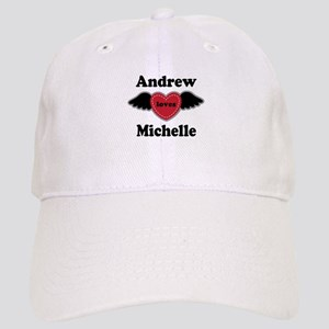 Personalized Wing Heart Couples Love Baseball Cap