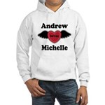 Personalized Wing Heart Couples Love Hoodie