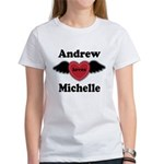 Personalized Wing Heart Couples Love T-Shirt