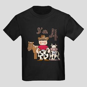 Cowboy 4th Birthday Kids Dark T-Shirt