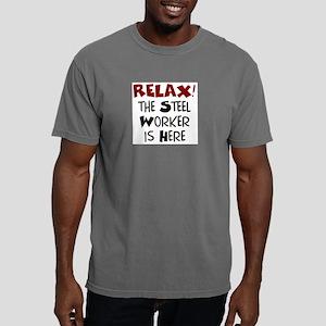 steel worker here Mens Comfort Colors Shirt