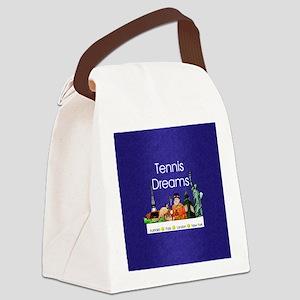 tennisdreamsaplnsq Canvas Lunch Bag