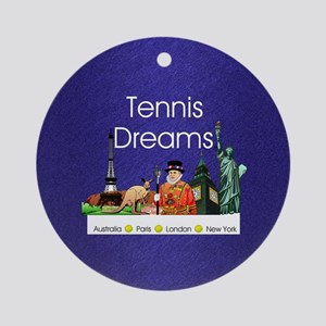 tennisdreamsaplnsq Round Ornament