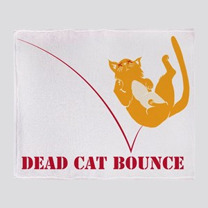Dead Cat Bounce Throw Blanket