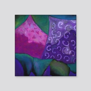 """The Hideaway - Purple and M Square Sticker 3"""" x 3"""""""