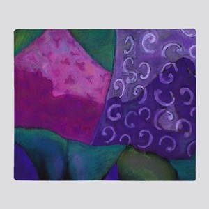 The Hideaway - Purple and Magenta He Throw Blanket