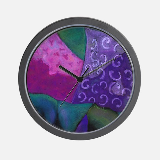 The Hideaway - Purple and Magenta Heave Wall Clock