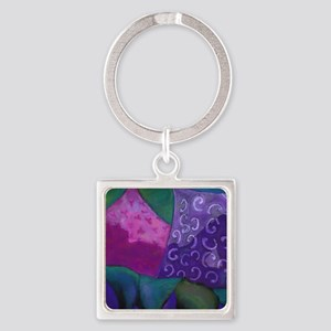 The Hideaway - Purple and Magenta  Square Keychain