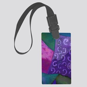 The Hideaway - Purple and Magent Large Luggage Tag