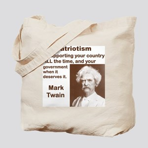 PATRIOTISM IS SUPPORTING YOUR COUNTRY ALL Tote Bag