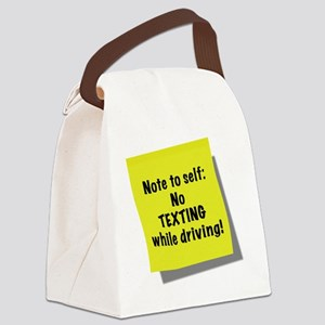Note to self, No texting while dr Canvas Lunch Bag
