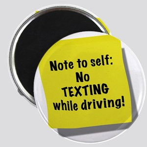 Note to self, No texting while driving, gif Magnet