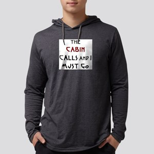 cabin calls Mens Hooded Shirt