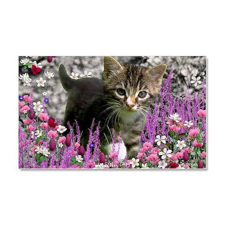 Emma Tabby Kitten in Flowers I Car Magnet 20 x 12