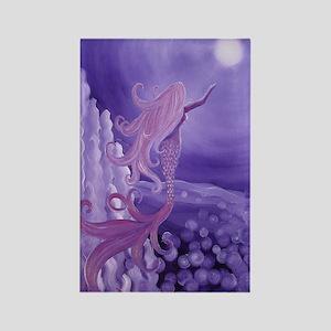 lavender mermaid area rug Rectangle Magnet