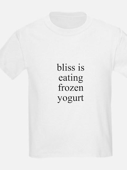 bliss is eating frozen yogurt T-Shirt