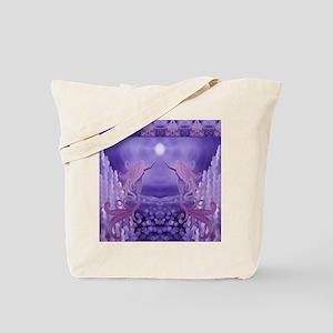 lavender mermaid shower curtain Tote Bag
