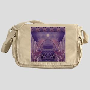 lavender mermaid shower curtain Messenger Bag
