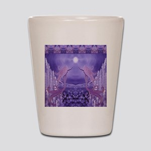 lavender mermaid shower curtain Shot Glass