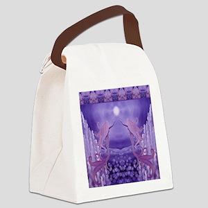 lavender mermaid shower curtain Canvas Lunch Bag