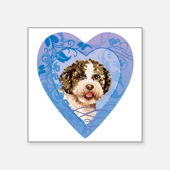 """lagotto-heart Square Sticker 3"""" x 3"""""""
