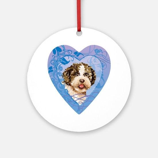 lagotto-heart Round Ornament