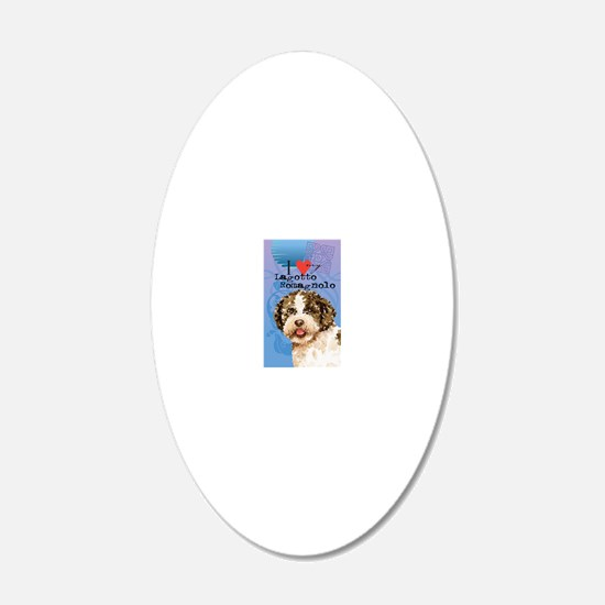 lagotto-oval key Wall Decal