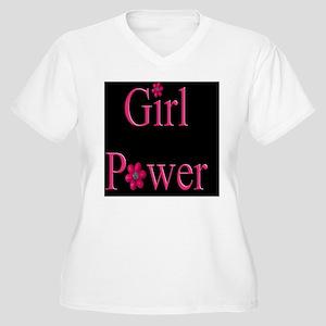Girl Power Women's Plus Size V-Neck T-Shirt