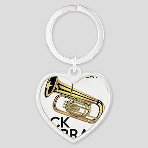 Tuba Players Kick Brass Heart Keychain