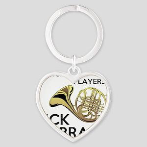 Horn Players Kick Brass Heart Keychain