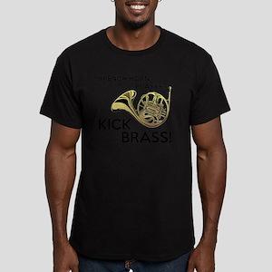 Horn Players Kick Bras Men's Fitted T-Shirt (dark)