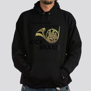 Horn Players Kick Brass Hoodie (dark)