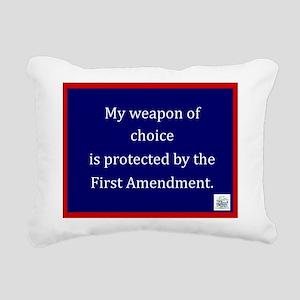 Ist Amendment Protection Rectangular Canvas Pillow
