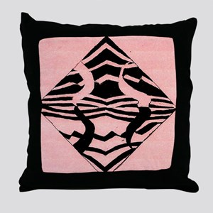 Pink ZebraIM Throw Pillow