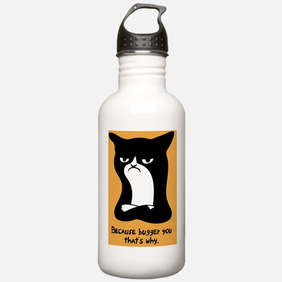 angry-cat2-PLLO Water Bottle