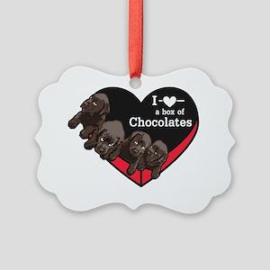 Box of Chocolates Picture Ornament