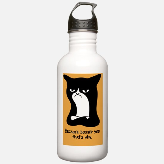 angry-cat2-TIL Water Bottle