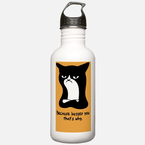 angry-cat2-BUT Water Bottle