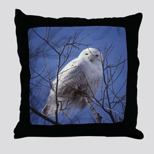 Snowy White Owl Throw Pillow