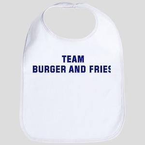 Team BURGER AND FRIES Bib