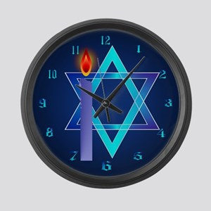 Sharp Star Of David - Light Large Wall Clock