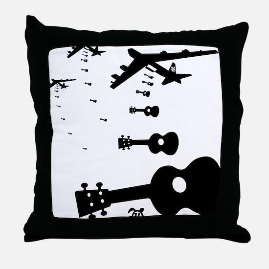 Uke Bombers Throw Pillow