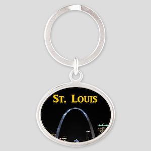 St Louis Gateway Arch Oval Keychain