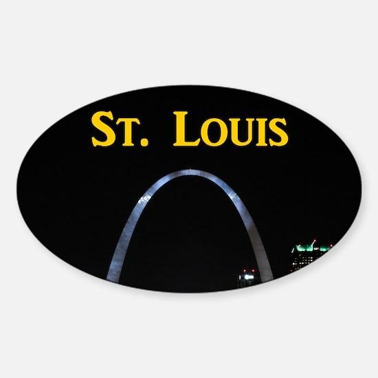 St Louis Gateway Arch Sticker (Oval)