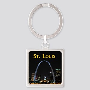 St Louis Gateway Arch Square Keychain