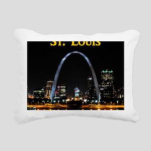 St Louis Gateway Arch Rectangular Canvas Pillow