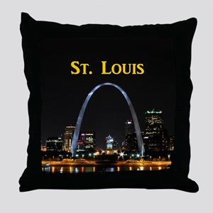 St Louis Gateway Arch Throw Pillow