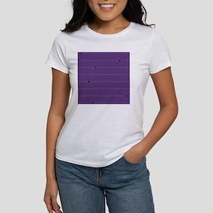 dotted stripes purple Women's T-Shirt